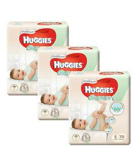 FREE DELIVERY HUGGIES PLATINUM SIZE S