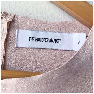 TEM the Editors market pink blush mock suede Blouse top