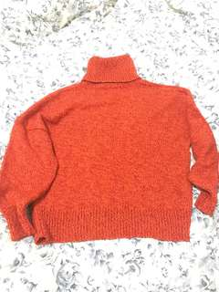 Vintage Orange Knit Jumper