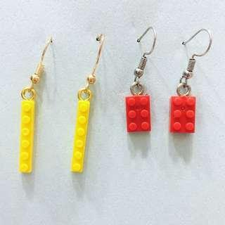 Lego 耳環/耳夾