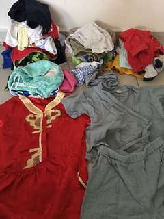Big bundle of boy clothings age 6-36 months