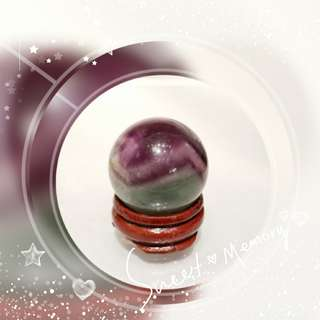 全新品 巴西出產 天然 紫瑩石水晶球 迷你 size 3cm 擺件 一個 ( 包郵 )QQ-01