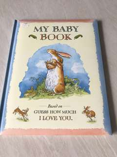 Baby milestones record book : my baby book based on Guess how much I love you