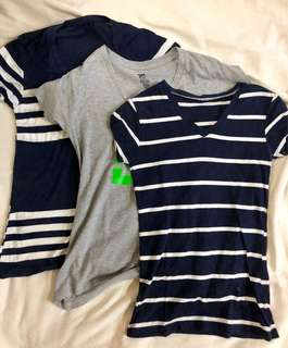 Navy Blue and Gray DC Shirts Bundle of 3