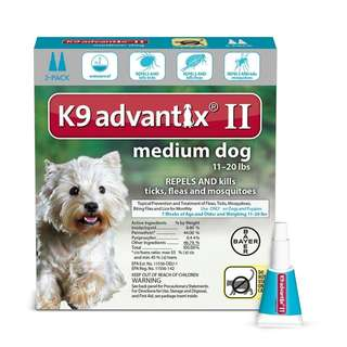 [IN-STOCKS] K9 Advantix II Flea, Tick and Mosquito prevention