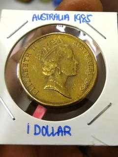 1985 Australia 1 Dollar Kangaroo
