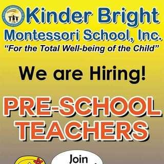 Looking For Pre-school Teachers