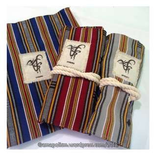 Souvenir Roll-up Pen Cases made from Filipino woven cloth- Free shipping nationwide!