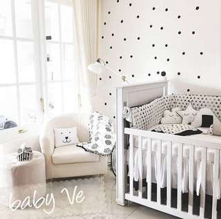 Baby Bedding Set (high quality) - Black White Dots by Baby Ve