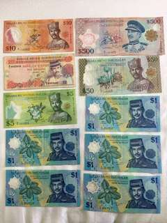 Brunei notes. Clearing my collection.  Offer ur price.