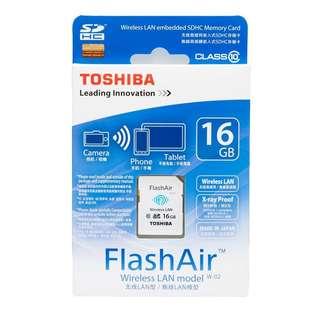 全新未拆盒TOSHIBA FlashAir SDHC CL10 16GB