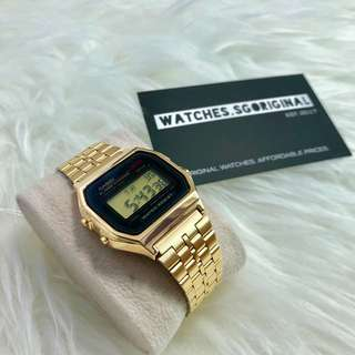 Casio Watch Gold A159 Authentic