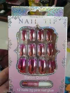 Pink nail tips