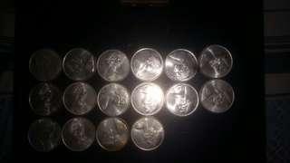 1966 50 Cents Australian Silver Coins (20 pcs)
