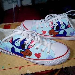 Stitch painted shoes