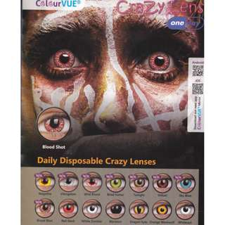 Daily Disposable Crazy Lenses (Free Postage)