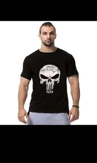 PUNISHER LOGO BLACK Gym Workout Tee [ FREE DELIVERY ][ INSTOCKS ]