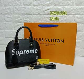 Louis Vuitton Supreme Alma Black