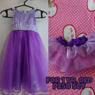 Violet Gown / Dress for 1 yr.old baby girl