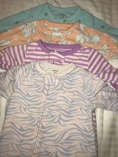 Carter's fleece zippered sleepsuit