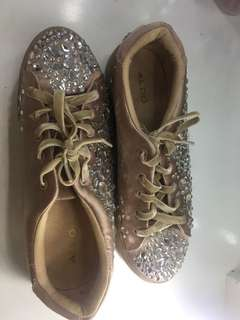 Jeweled Rose Gold Sneakers
