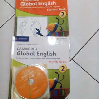 Book English, Cambridge Global English for Cambridge Primary English as a Second Language Learner's Book, Activity Book, 2 CD's