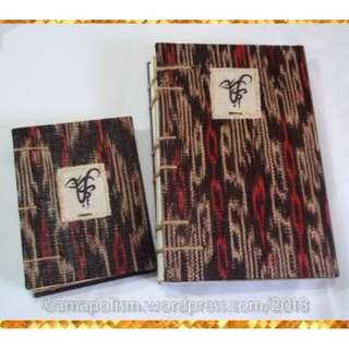 Malayang Talaan - Blank-page Journal with T'nalak cloth cover - Free nationwide shipping!