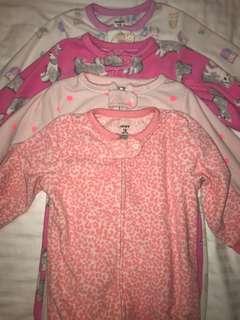 Carter's fleece sleepsuits