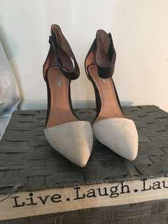 Jeffrey Campbell Leather and Swede Heels