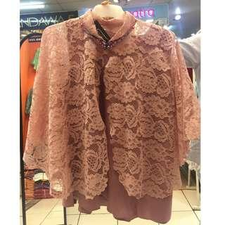 kebaya dusty pink modern