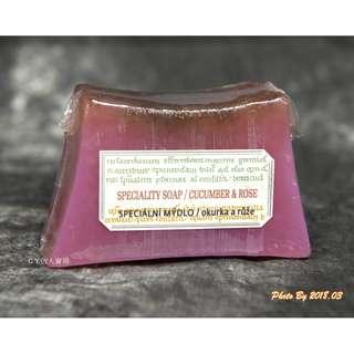 🚚 捷克 BOTANICUS(菠丹妮/波丹尼) 玫瑰小黃瓜手工皂/香皂/肥皂 125g 塑膠膜包裝