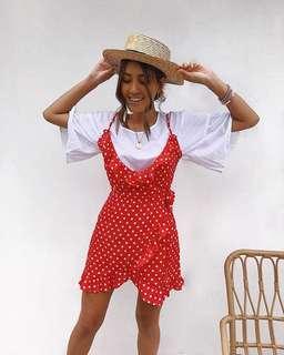 // seven wonders - RED Olivia dress NEW