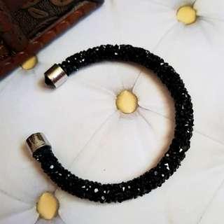 🆕️Black Crystaldust Cuff Bracelet