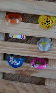BN 6 pieces girl rings