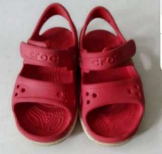 Kids crocband red sandal crocs