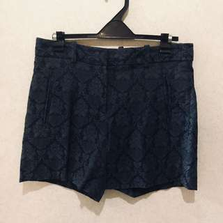 Zara Dark Blue Shorts