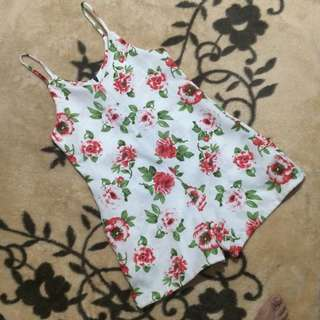 Floral Sleeveless Rompers