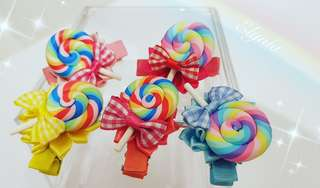 Candy lollipop hairclip