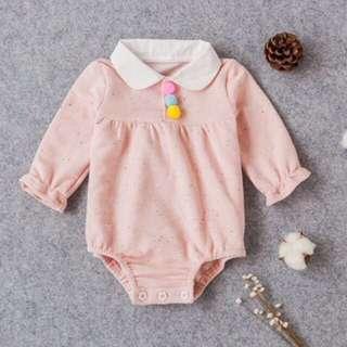 Instock - Pom Pom romper, baby infant toddler girl children cute chubby
