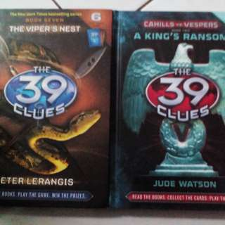 Books, The 39 Clues, 2 books = 10 RM, hardcover