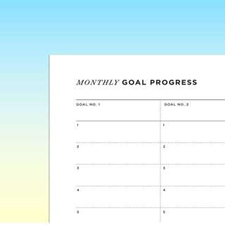 Bullet Journal Printable - Monthly Goal Progress
