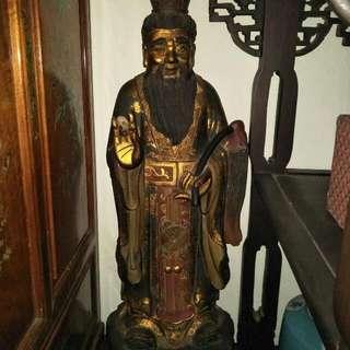 老木雕神像86218574