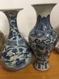 一對古董花瓶