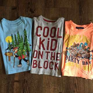Branded Graphic Tee for Little Boys Set of 3