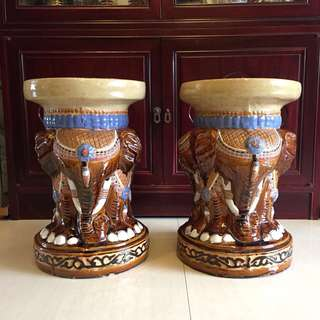 Elephant Flower Pot Stand Or Stool