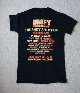 Unify 2015 black tshirt size small