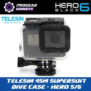 TELESIN 45M SUPERSUIT Scuba Diving Waterproof Protective Housing Underwater Sport Case for GoPro HERO 5/6