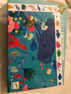 Djeco sea animals 54 piece puzzle
