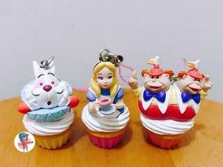 愛麗絲 時間兔 cupcake 扭蛋