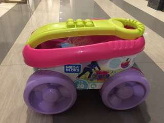 First Builders® Block Scooping Wagon (Pink)